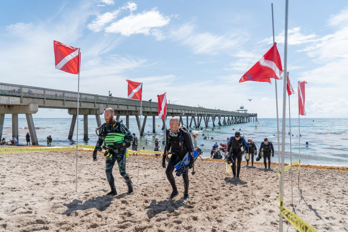 World Record Ocean Cleanup at Deerfield Beach Pier