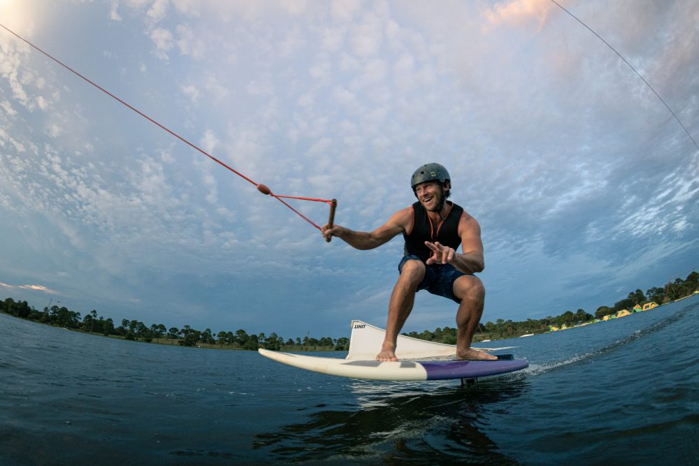 Greg Norman Jr. at Shark Wake Park in West Palm Beach