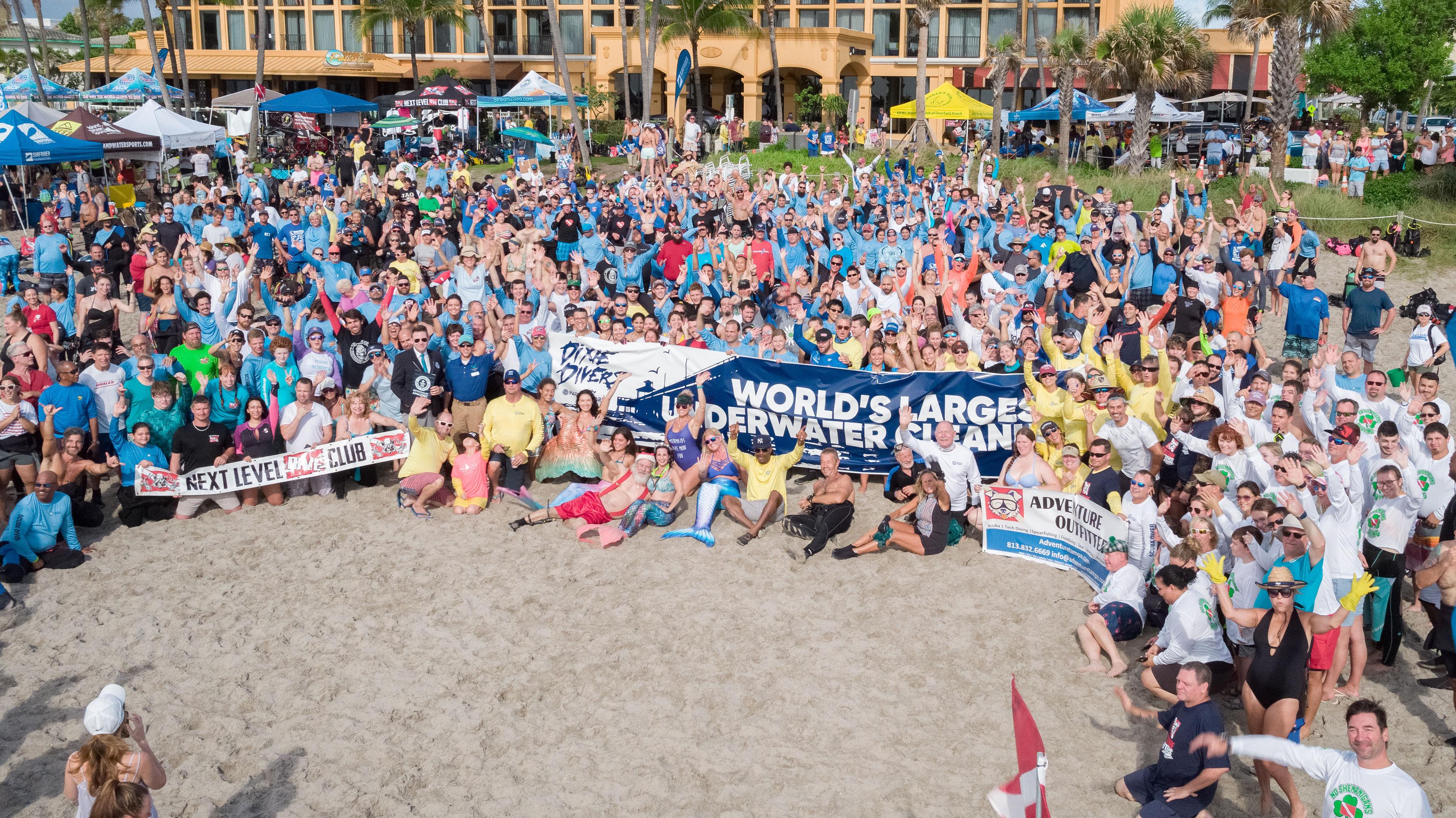 World Record Ocean Cleanup in Deerfield Beach