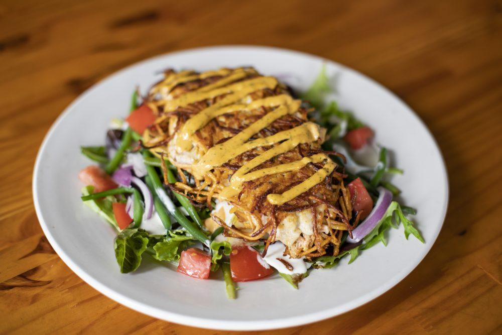 Leftover's Cafe Sweet Potato Crusted Beeliner Snapper