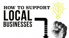 How to support local businesses graphic