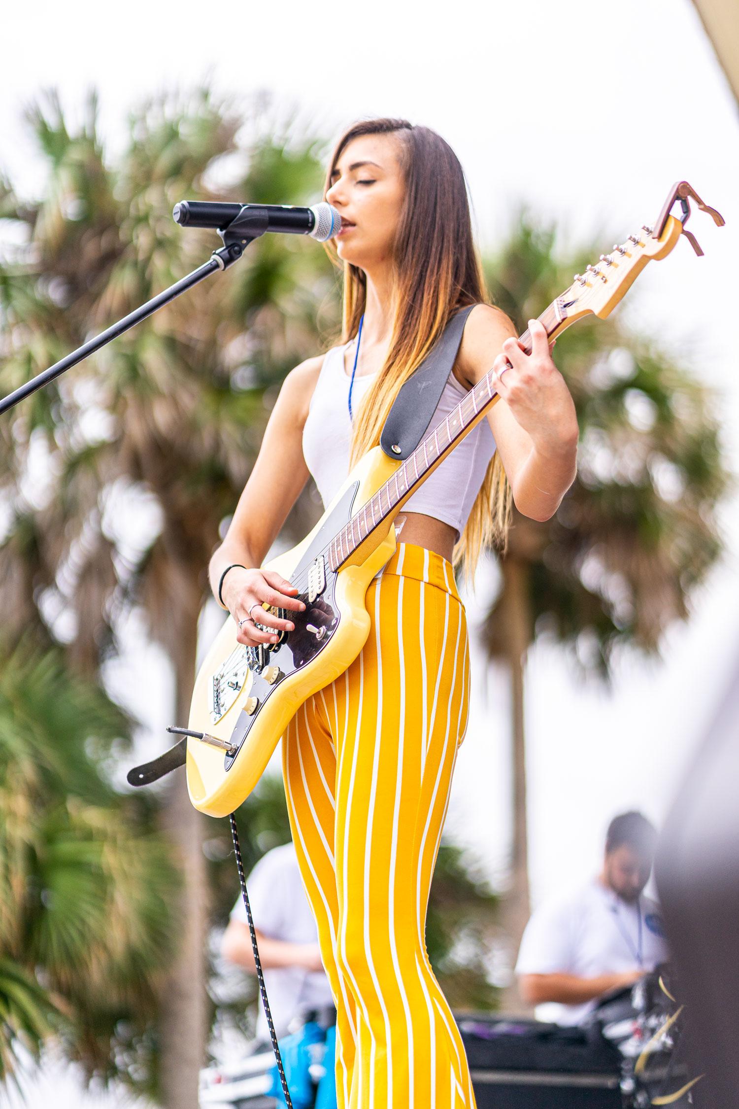 Sierra Lane playing music