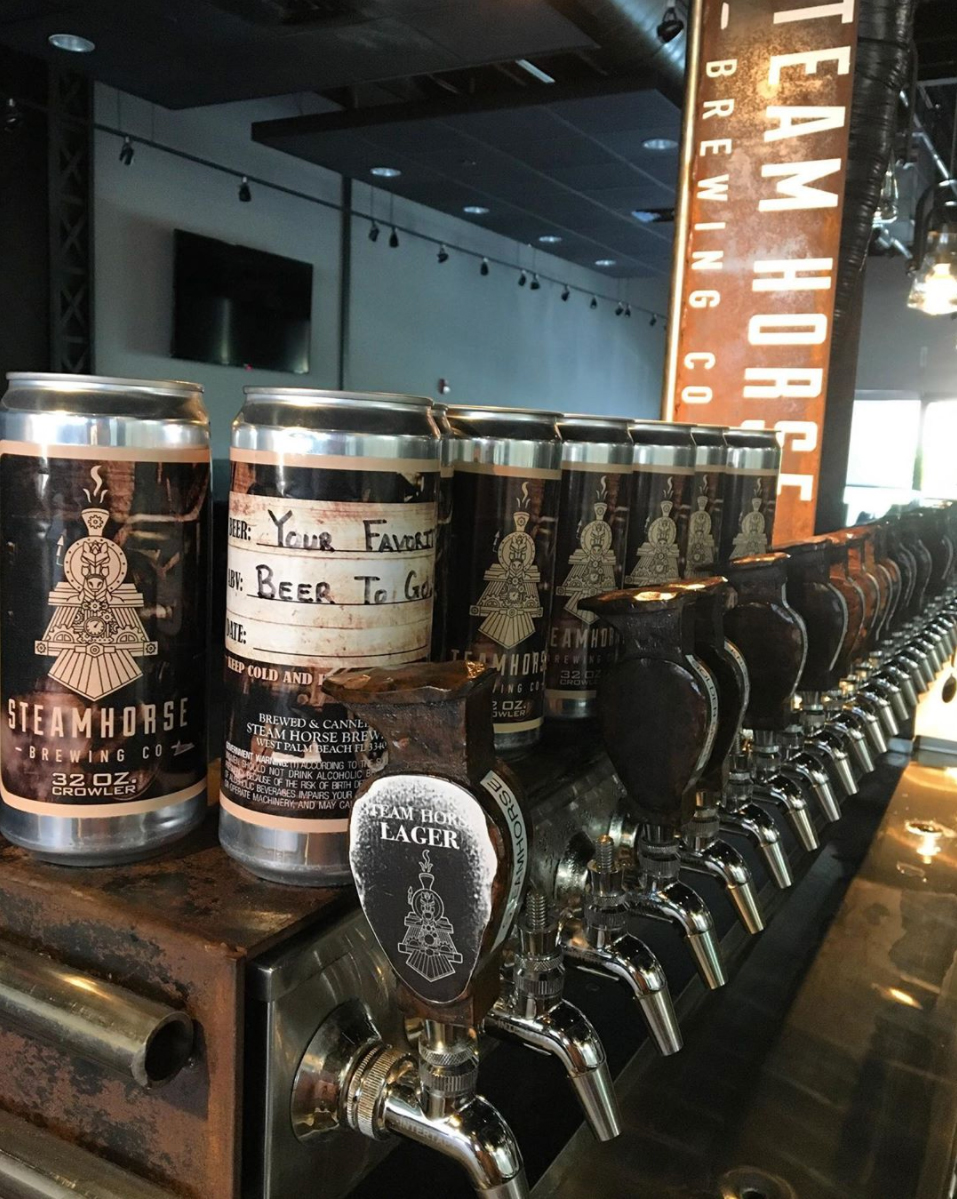 Steam Horse Brewing in West Palm Beach Crowler