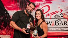 Troy Ganter of Papa's Raw Bar with his wife Cassie