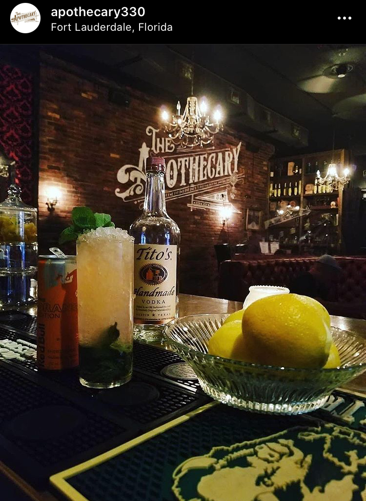 Apothecary 330 Fort Lauderdale Cocktails