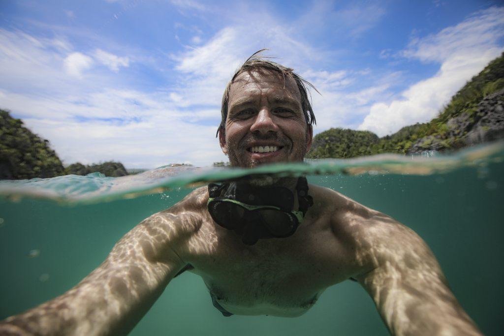 Ben Hicks Selfie Underwater